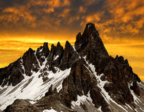Mount Paternkofel Royalty Free Stock Images