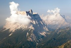Mount Pelmo and mount Civetta Stock Images