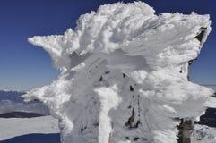 Mount Petros on the Montenegrin ridge. Winter hiking in the Montenegrin ridge. peak Petros royalty free stock photos