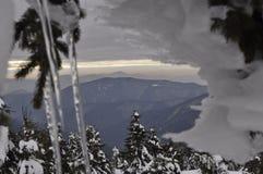 Mount Petros on the Montenegrin ridge. Winter hiking in the Montenegrin ridge. peak Petros royalty free stock photo