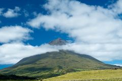 Mount Pico in the Azores royalty free stock photos