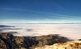 Mount Pilatus. An impressive view of the valley below Mount Pilatus Royalty Free Stock Image