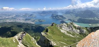 Mount Pilatus, Luzern lake, switzerland stock image