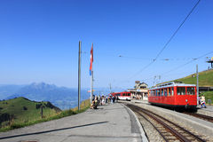 Mount Pilatus from Rigi Kulm station Switzerland Royalty Free Stock Photo