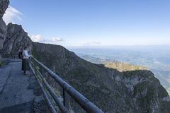 Mount Pilatus walk surrounding path, Switzerland royalty free stock image