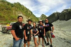 Mount Pinatubo Mountain Climbers Stock Photos