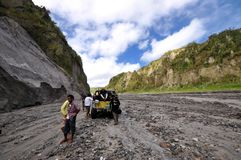 Mount Pinatubo Mountain Climbers Royalty Free Stock Photos