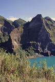 mount pinatubo volcano crater lake philippines Royalty Free Stock Images