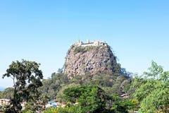Mount Popa, at Bagan, Myanmar Royalty Free Stock Images