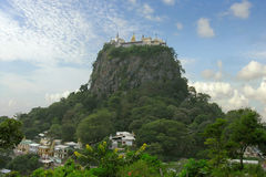 Mount popa. Buddhist monastery Royalty Free Stock Photo