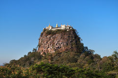 Mount Popa in Burma (Myanmar) Stock Images
