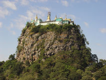 Mount Popa ib Burma (Myanmar) stock photo