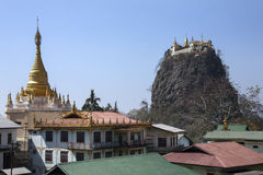 Mount Popa Temple - Myanmar (Burma) Royalty Free Stock Image