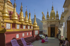 Mount Popa Temple - Myanmar (Burma) Royalty Free Stock Photo