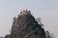Mount Popa, Popa Taung Kalat Royalty Free Stock Images