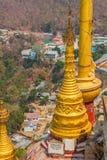 Mount Popa votive stupas Royalty Free Stock Photos