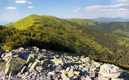 Mount Prasiva and mount Chochula in Nizke Tatry Royalty Free Stock Image