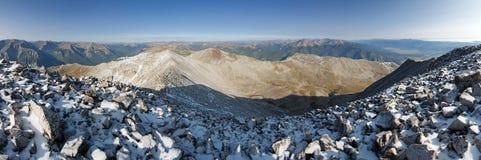 Mount Princeton Summit Panorama Stock Photography