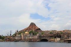 Mount Prometheus at Tokyo DisneySea Stock Photos