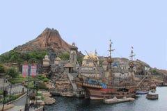 Mount Prometheus at Tokyo DisneySea Royalty Free Stock Image