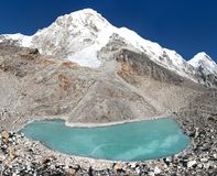 Mount Pumori or Pumo Ri, Nepal Himalayas mountains Royalty Free Stock Image