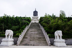 Mount Putuo Buddha Pagoda. The buddha pagoda is one of the most important religious sites of Mount Putuo Stock Photos