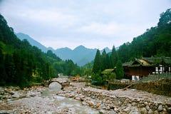 Mount Qingcheng royaltyfria bilder