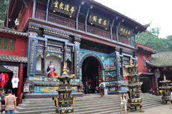 Mount Qingcheng Ciyunge Pavilion, Sichuan, China Stock Photos