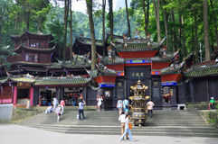 Mount Qingcheng Jianfu Temple, Sichuan, China Royalty Free Stock Images