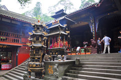 Mount Qingcheng Shangqing Temple, Sichuan, China Royalty Free Stock Photos