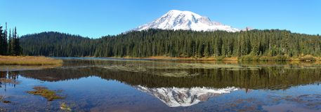Mount Rainer. Panoramic view of Mount Rainer