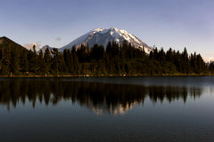 Mount Rainer and reflections. Mount Rainier and reflections at summit lake in Washington state, USA Royalty Free Stock Photography