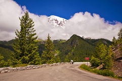 Mount rainer on the way of paradise point Royalty Free Stock Photos