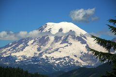 Mount rainier. National park, usa Stock Photo