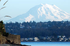 Mount Rainier. As viewed from Point Fosdick Stock Image