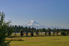 Mount Rainier. View of Mt. Rainier Stock Photos