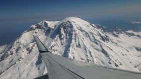 Mount Rainier from the air Royalty Free Stock Photos