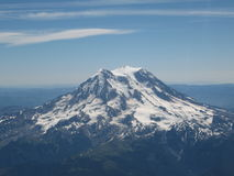 Mount Rainier from the airplane Royalty Free Stock Photography