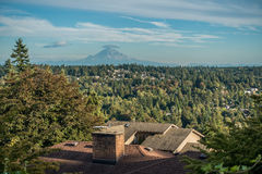 Mount Rainier From Burien 2. A view of Mount Rainier from Burien, Washington royalty free stock image