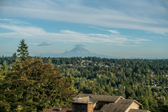 Mount Rainier From Burien. A view of Mount Rainier from Burien, Washington royalty free stock photography