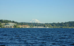 Mount Rainier and Carillon Point Stock Photo