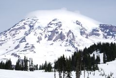 Mount Rainier and Glacier Stock Photos