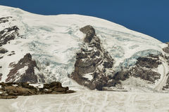 Mount Rainier glacier Washington, USA Royalty Free Stock Image