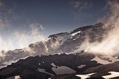 Mount Rainier i sommar Royaltyfria Foton