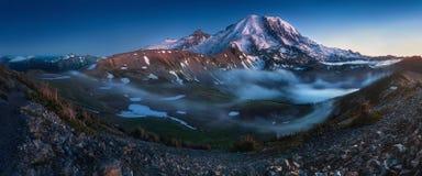 Free Mount Rainier In The Dusk At Mount Rainier National Park, Washington State, USA Stock Photo - 141788960