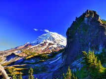 Mount Rainier from Knapsack Pass Royalty Free Stock Photography