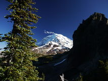 Mount Rainier from Knapsack Pass Stock Photo