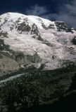 Mount Rainier, late season for Nisqually Glacier Royalty Free Stock Photography