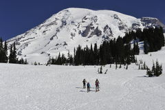 Mount Rainier, near Seattle, USA Royalty Free Stock Photo
