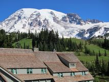 Mount Rainier from the Paradise Inn Royalty Free Stock Photography